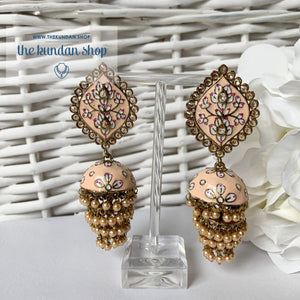 Layers in Paint Earrings THE KUNDAN SHOP Peach