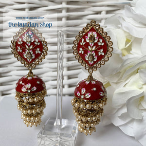 Layers in Paint Earrings THE KUNDAN SHOP Dark Pink