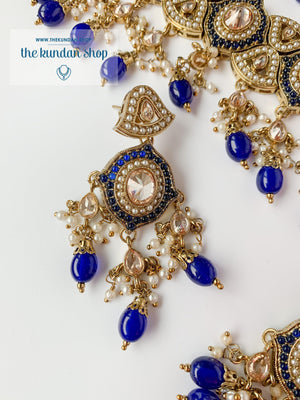 Entangled in Midnight Blue Necklace Sets THE KUNDAN SHOP