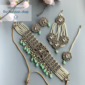 Magnificent Mint, Necklace Sets - THE KUNDAN SHOP