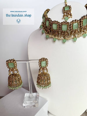 Valiant in Mint Necklace Sets THE KUNDAN SHOP