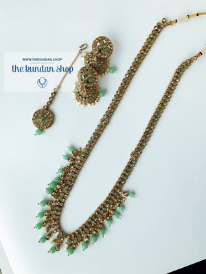 Hidden Secrets - Mint, Necklace Sets - THE KUNDAN SHOP