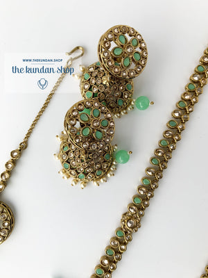 Hidden Secrets - Mint Necklace Sets THE KUNDAN SHOP