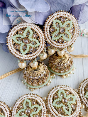 Roadtrip in Mint Necklace Sets THE KUNDAN SHOP