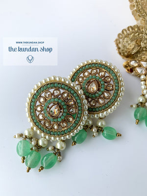 Spirited in Mint, Necklace Sets - THE KUNDAN SHOP