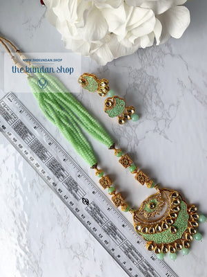 Mint Charm Pendant, Necklace Sets - THE KUNDAN SHOP