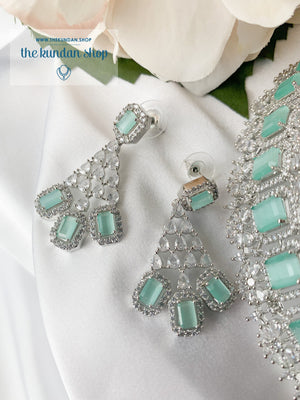 Exposed in Mint Necklace Sets THE KUNDAN SHOP