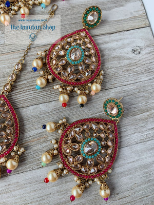 Dignify Set in Multi Necklace Sets THE KUNDAN SHOP