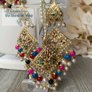 Diamond Jadau - Multi, Necklace Sets - THE KUNDAN SHOP