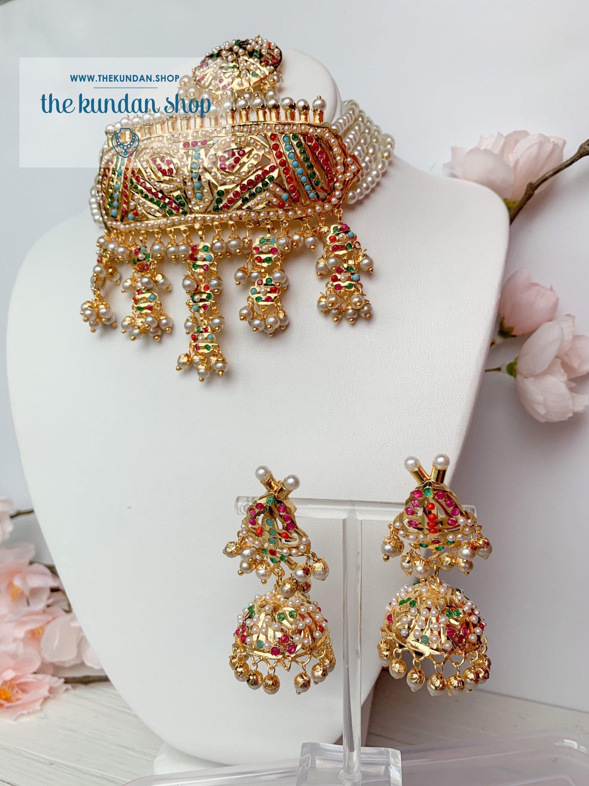 Compliment Choker in Multi Necklace Sets THE KUNDAN SHOP
