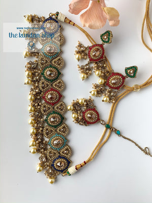 Entangled in Multi, Necklace Sets - THE KUNDAN SHOP