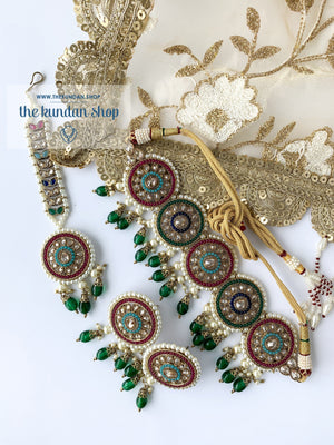 Spirited in Multi, Necklace Sets - THE KUNDAN SHOP