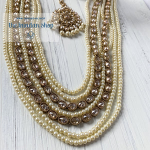 Mystic In Pearl Necklace Sets THE KUNDAN SHOP