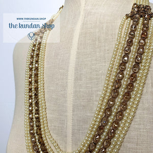 Mystic In Pearl, Necklace Sets - THE KUNDAN SHOP