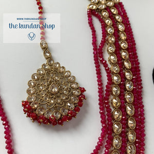 Mystic In Deep Pink, Necklace Sets - THE KUNDAN SHOP