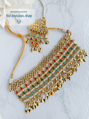 Strangers In Navrattan Necklace Sets THE KUNDAN SHOP