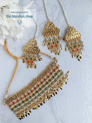 Strangers In Navrattan Necklace Sets THE KUNDAN SHOP Gold