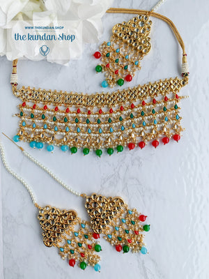 Strangers In Navrattan Necklace Sets THE KUNDAN SHOP Navrattan
