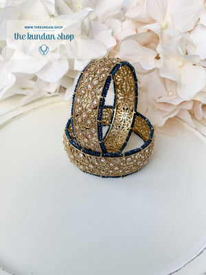 Compassion in Navy Bangles THE KUNDAN SHOP