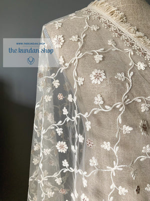 All in Petals, Dupatta - THE KUNDAN SHOP