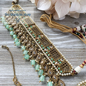 Cloud Nine - Mint, Necklace Sets - THE KUNDAN SHOP