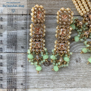 Never A Burden - Green, Necklace Sets - THE KUNDAN SHOP