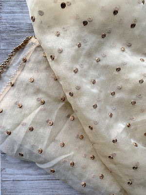 Basic & Classic Cream Dupatta Dupatta THE KUNDAN SHOP
