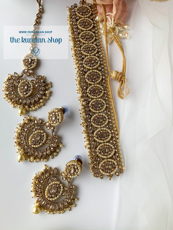 Enticed Choker, Necklace Sets - THE KUNDAN SHOP