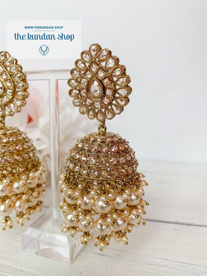 Kindly Jhumkis Earrings THE KUNDAN SHOP Pearl