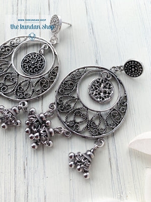 Silver Series - Classic Chaandbaalis, Earrings - THE KUNDAN SHOP