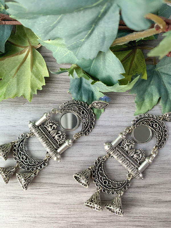 Silver Series - Moorni Pair, Earrings - THE KUNDAN SHOP