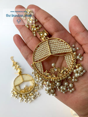 Treasured in Pearl, Earrings - THE KUNDAN SHOP