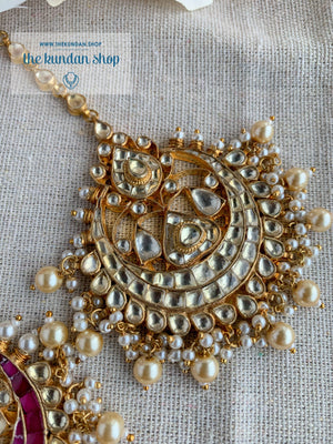 Rivals Tikka Earrings + Tikka THE KUNDAN SHOP Clear