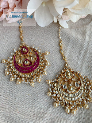 Rivals Tikka Earrings + Tikka THE KUNDAN SHOP
