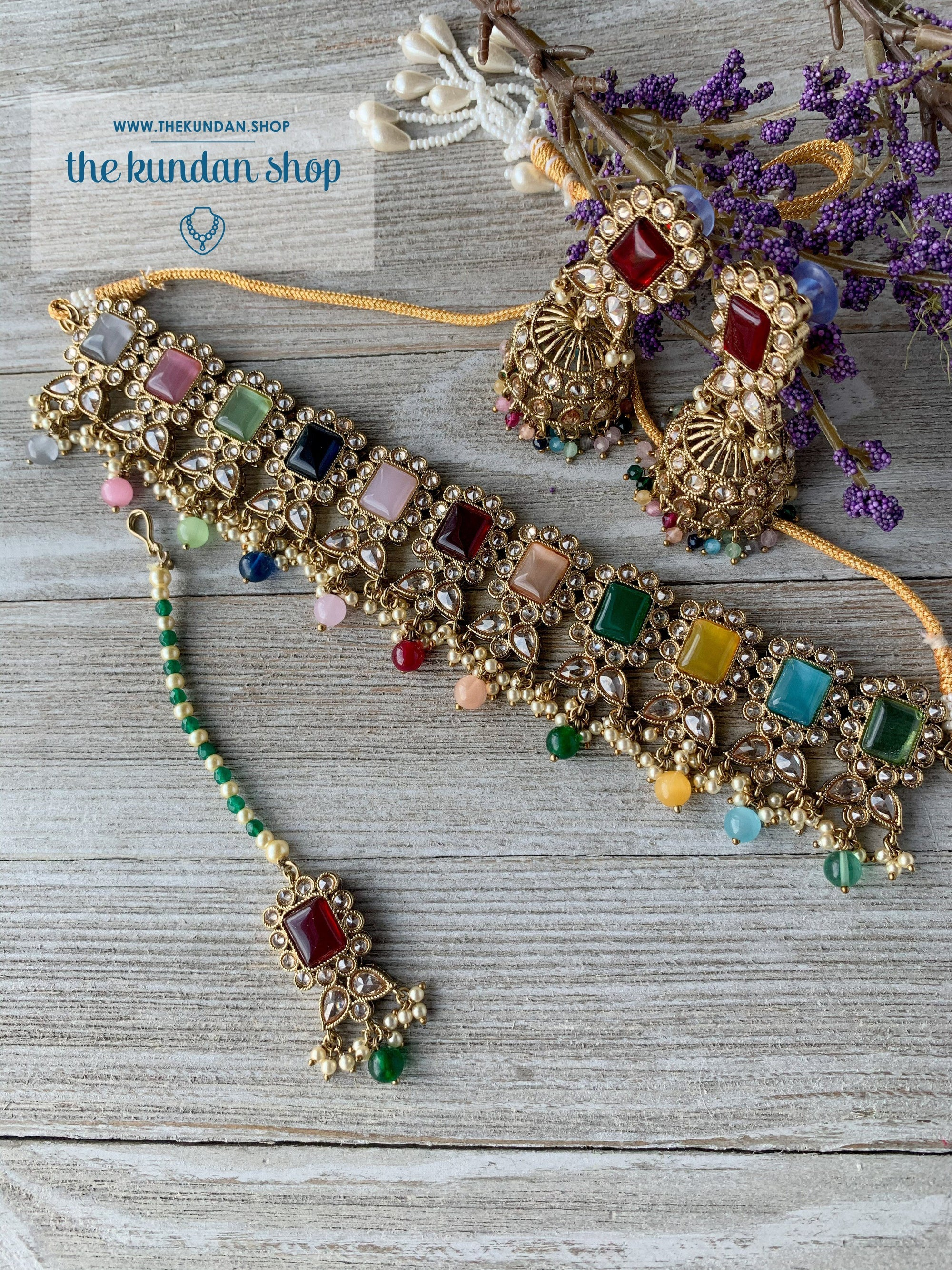 Valiant in Pastels 2.0 Necklace Sets THE KUNDAN SHOP