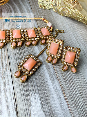 About Last Night - Peach, Necklace Sets - THE KUNDAN SHOP