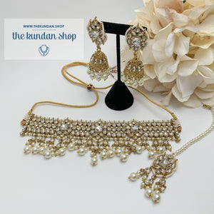 Over The Moon - Pearl, Necklace Sets - THE KUNDAN SHOP