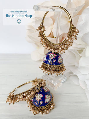 Pearl Clusters & Flowers, Earrings - THE KUNDAN SHOP