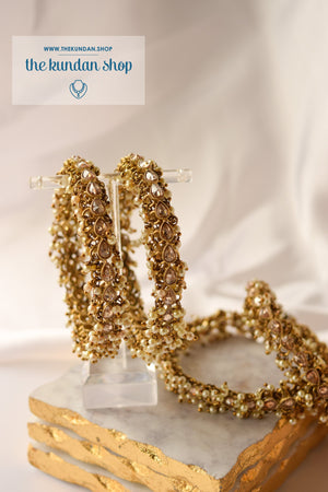 Arm Cluster Polki Bangles, Bangles - THE KUNDAN SHOP
