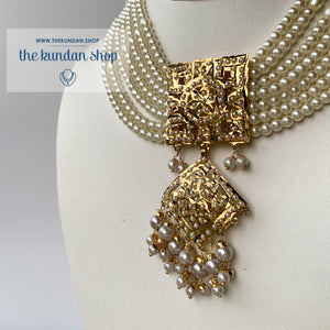 Diamond Jadau - Pearl, Necklace Sets - THE KUNDAN SHOP