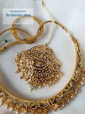 Traditional Hasli in Pearl Necklace Sets THE KUNDAN SHOP