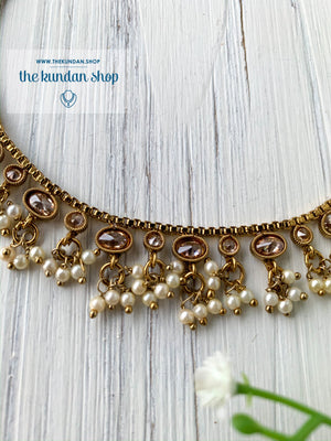 Shining Through - Polki Anklets, Anklets - THE KUNDAN SHOP