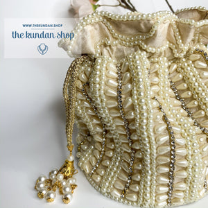 Immersed in Pearl, Clutch - THE KUNDAN SHOP