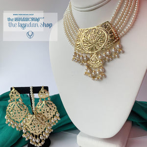 Higher Grounds - Pearl, Necklace Sets - THE KUNDAN SHOP