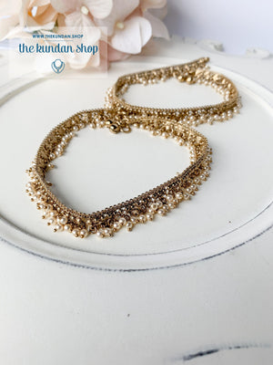 Pearls Only - Anklets, Anklets - THE KUNDAN SHOP