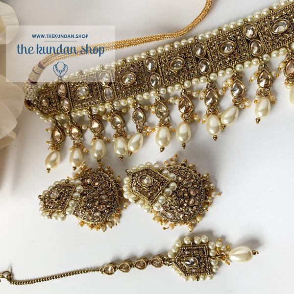 Choker of Pearls Necklace Sets THE KUNDAN SHOP