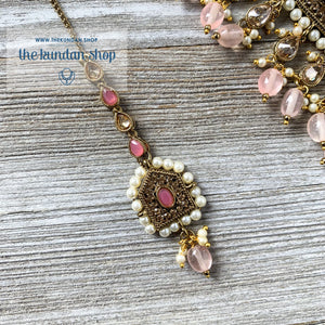 Choker of Pearls & Light PInk Necklace Sets THE KUNDAN SHOP