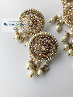 Spirited in Pearl, Necklace Sets - THE KUNDAN SHOP