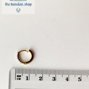Pierced AD stone nose ring, Naath - THE KUNDAN SHOP