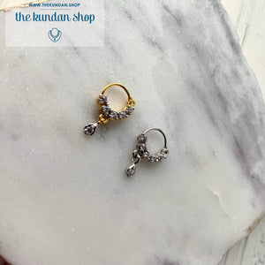 Classic Pierced Nose Ring, Naath - THE KUNDAN SHOP